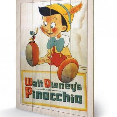 Disney pinocchio conscience impression sur bois 40x59cm