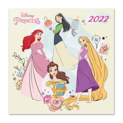 Disney princess classics calendrier 2022 30x30cm