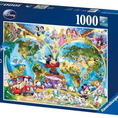 Disney puzzle 1000p le monde de mickey