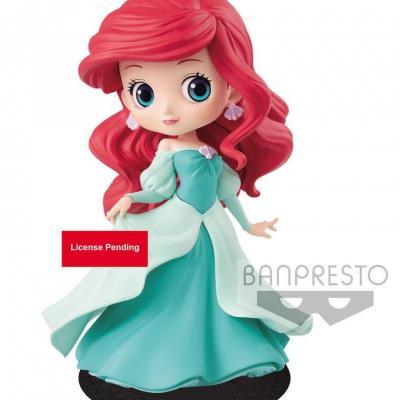 Disney q posket ariel princess green dress 14cm