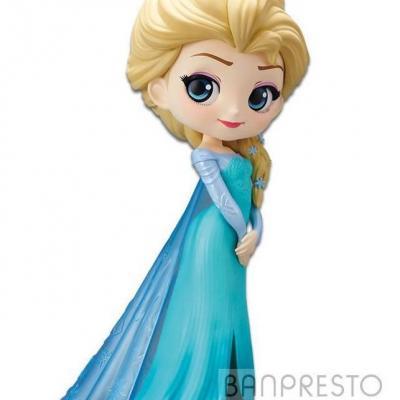 Disney q posket elsa normal color version 14cm r