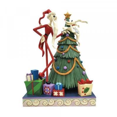 Disney santa jack with zero statuette enesco 25x20cm