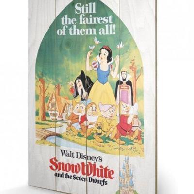 Disney snow white still the faires impression sur bois 40x59cm