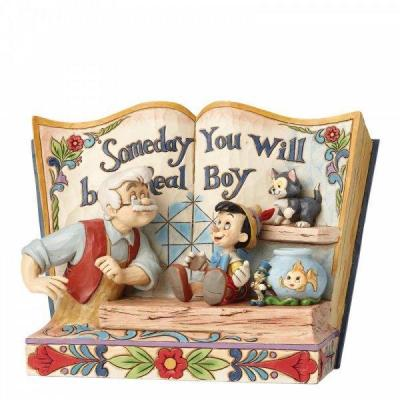 Disney someday you will be a real boy statuette enesco 15x10x22