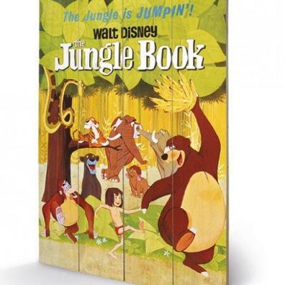 Disney the jungle book jumping impression sur bois 40x59cm