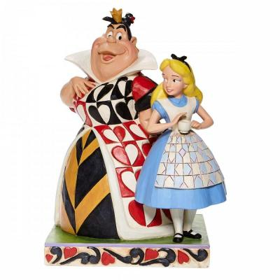 Disney traditions alice and the queen of hearts 21x14x14 5cm