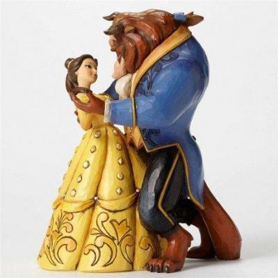 Disney traditions belle and beast dancing couple 25th years 23cm
