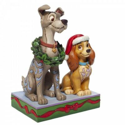 Disney traditions decked out dogs figurine 17x12x9