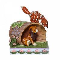 Disney traditions fox and hound log 14 5x10x12 5cm