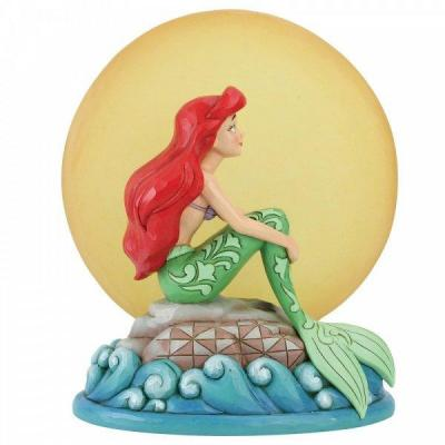 Disney traditions mermaid by moonlight 19x9x16 5