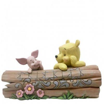 Disney traditions porcinet et winnie on a log 10x12x16