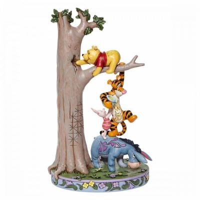 Disney traditions tree with pooh and friends 25x11 5x12 5cm