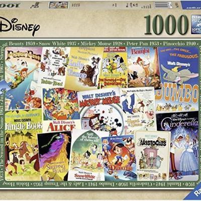 Disney vintage movie poster puzzle 1000p