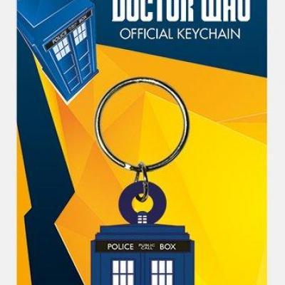 Doctor who porte cles caoutchouc tardis