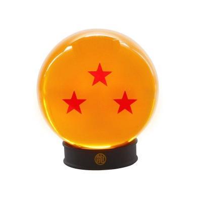 Dragon ball boule de cristal 75mm 3 etoiles socle collector