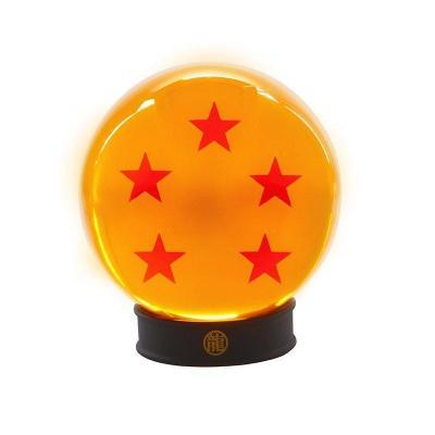 Dragon ball boule de cristal 75mm 5 etoiles socle collector