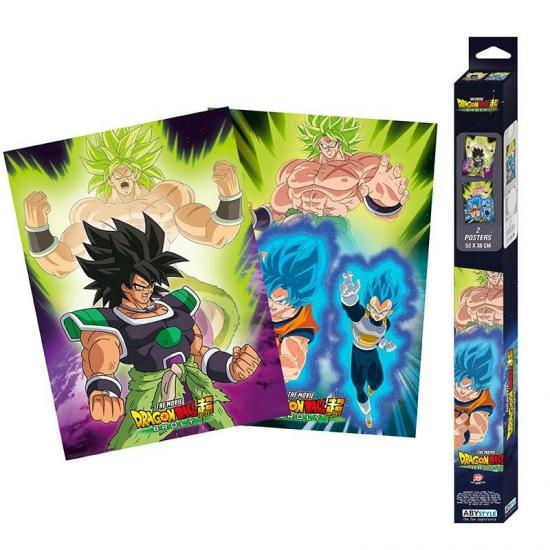 Dragon ball broly broly set de 2 posters 52x38