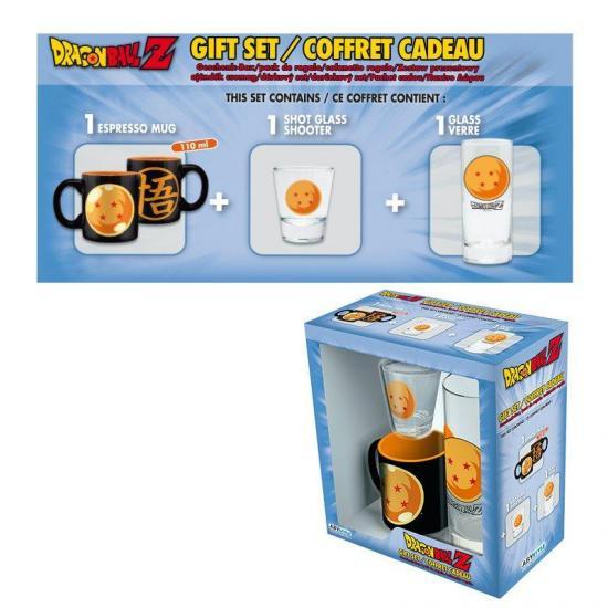 Dragon ball coffret cadeau verre shooter mini mug