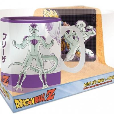 Dragon ball goku frieza set mug thermoreactif 460ml sous verre