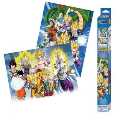 Dragon ball groupes set de 2 posters 52x38