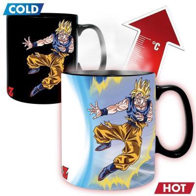 Dragon ball mug thermoreactif 460 ml goku vs buu
