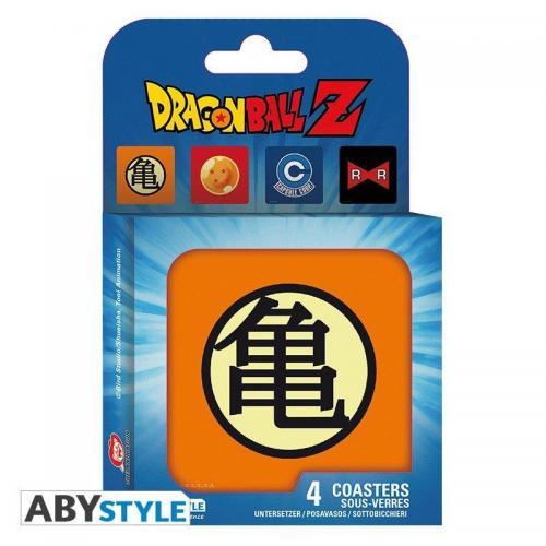 Dragon ball pack de 4 dessous de verre symboles