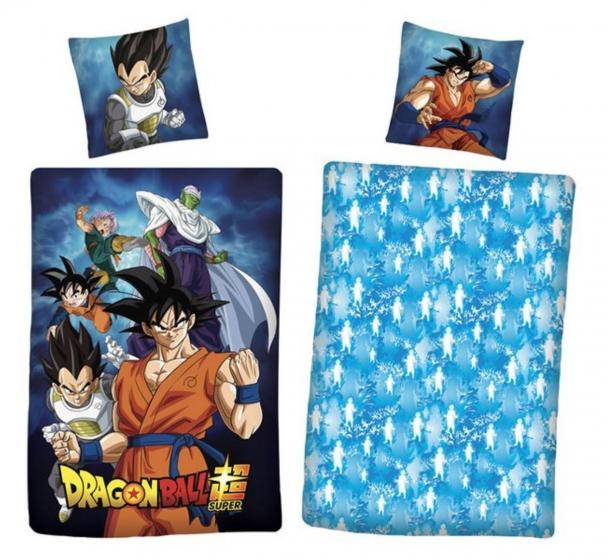 Dragon ball parure de lit 140x200cm dragon ball super 100 coton