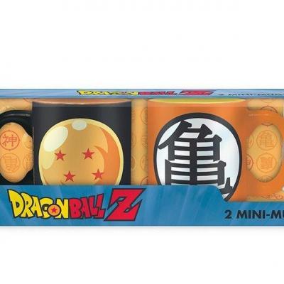 Dragon ball set 2 mini mugs boule cristal kame