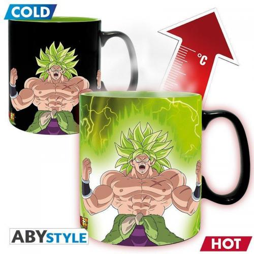 Dragon ball super broly mug thermoreactif 460 ml gogeta broly
