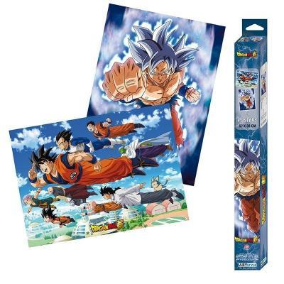 Dragon ball super goku friends set de 2 posters 52x38
