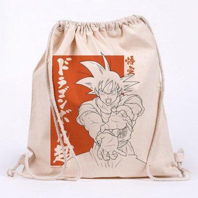 Dragon ball super goku sac en toile 100 coton 42x37cm