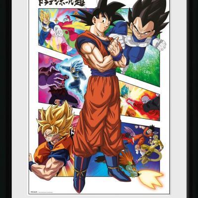 Dragon ball super panels collector print 30x40cm
