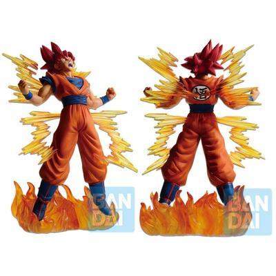 Dragon ball super super saiyan god goku figurine ichibansho 20cm