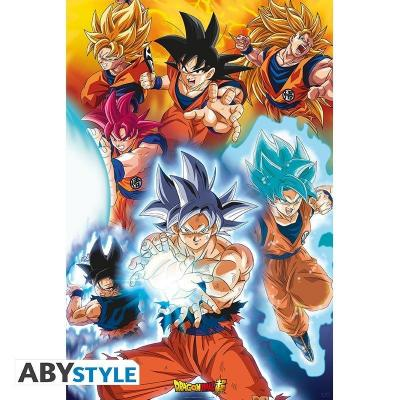 Dragon ball super transformations poster 91x61cm