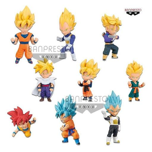 Dragon ball super wcf display 12 figurines sayian special 7cm