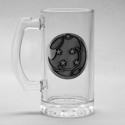 Dragon ball z beer glass 500ml metal badge dragon ball