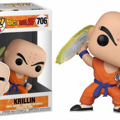 Dragon ball z bobble head pop n 384 krillin with destructo disc