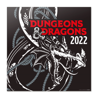 Dungeons dragons calendrier 2022 30x30cm