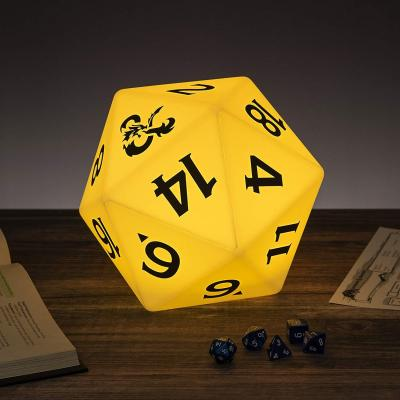 Dungeons dragons d20 lampe multicolore