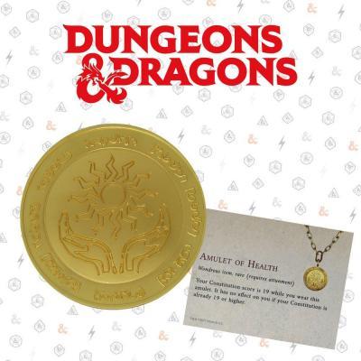 Dungeons dragons medaille en metal plaque or collector