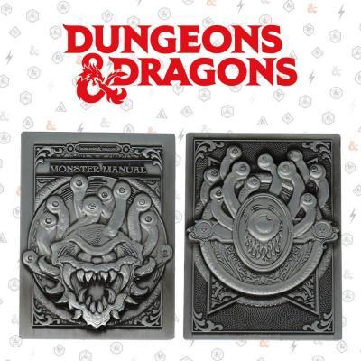 Dungeons dragons monster manual lingot collector en metal