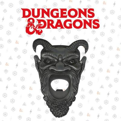Dungeons dragons ouvre bouteille aimante en metal