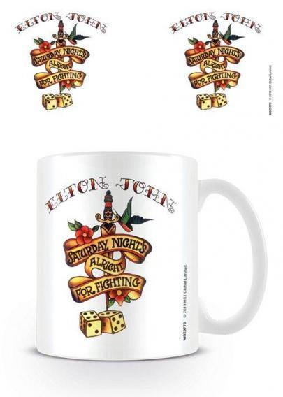 Elton john saturday night tattoo mug 315ml