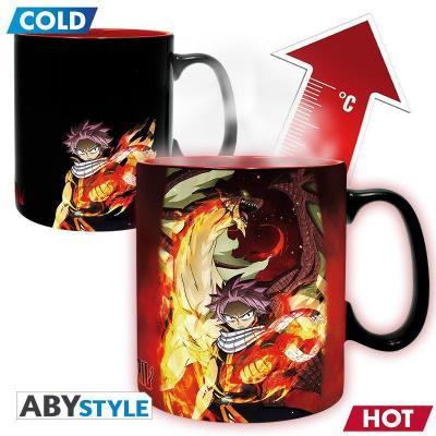 Fairy tail natsu lucy mug thermoreactif 460ml