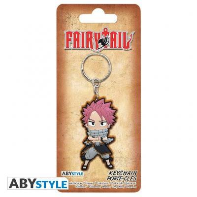 Fairy tail porte cles pvc natsu