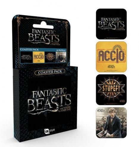 Fantastic beasts pack de 4 dessous de verre mix