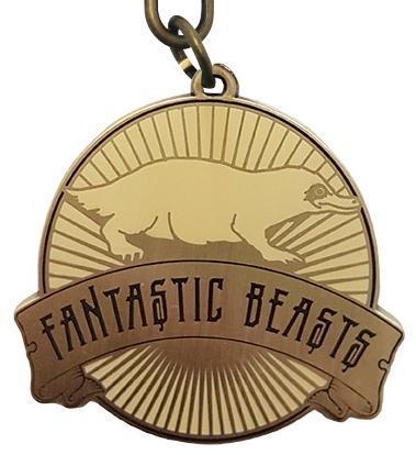 Fantastic beasts porte cles metal niffleur