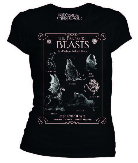 Fantastic beasts t shirt creatures