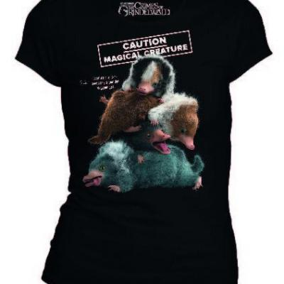 Fantastic beasts t shirt niffleur caution magical creature