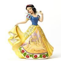 Figurine blanche neige en robe de bal chateau